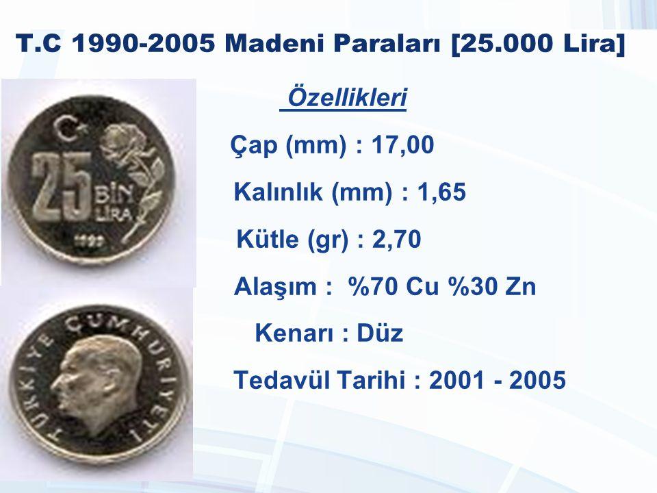 T.C 1990-2005 Madeni Paraları [25.000 Lira]